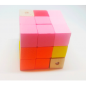 Mini Puzzle Cubo de Madera de Colores