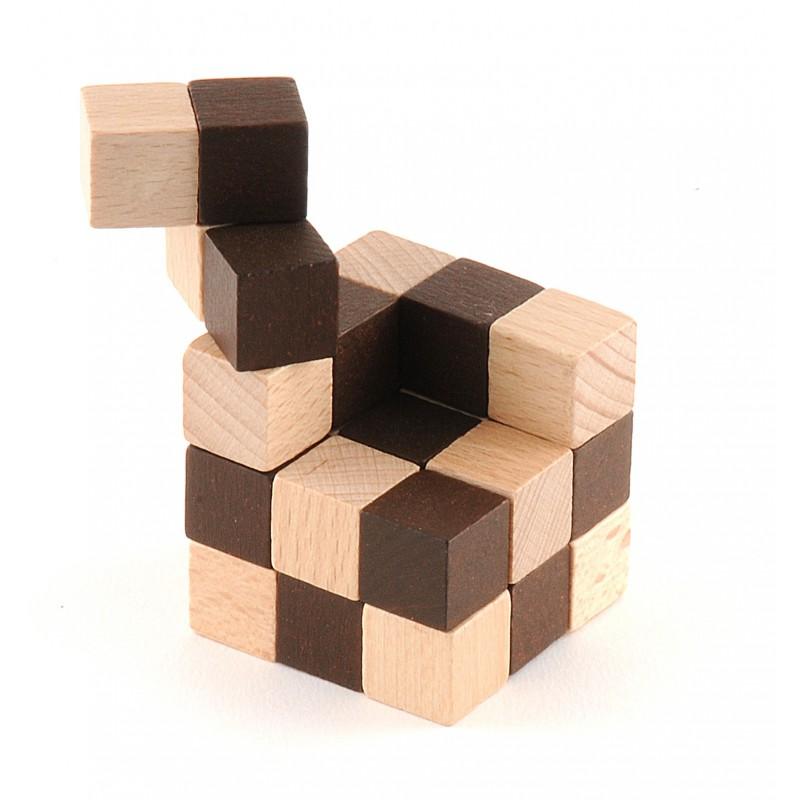Cubo de madera peque o formas imposibles - Cubos de madera ...