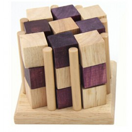 Cubo Madera con Base