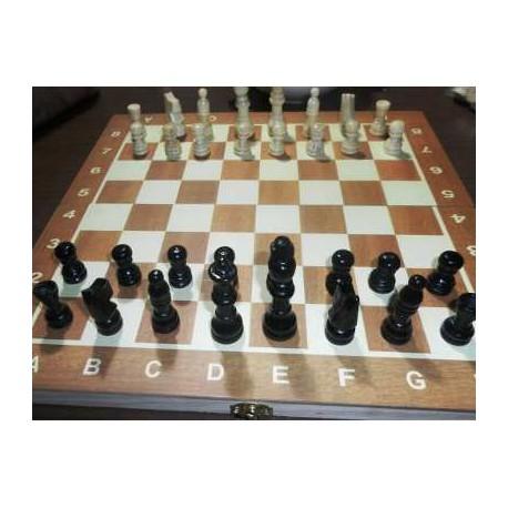 Juego de Madera Ajedrez - Damas - Backgammon