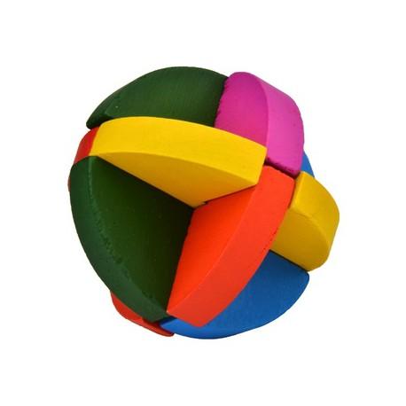 Puzzle de Madera Esfera Semicubierta de Colores