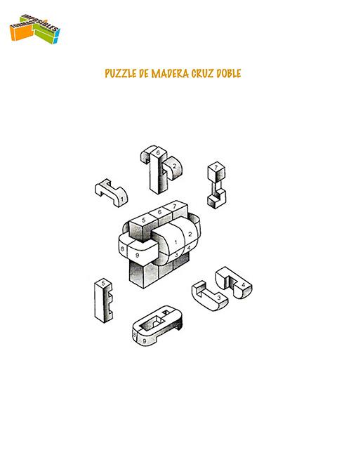 Solución Puzzle madera Cruz doble