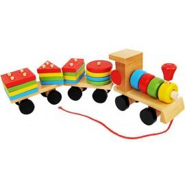 Tren de Madera con Bloques